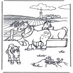 Coloriages d'animaux - Chevaux