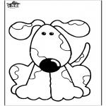 Coloriages d'animaux - Chien 10