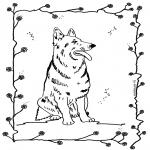 Coloriages d'animaux - Chien 4