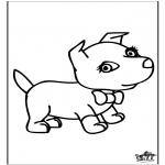 Coloriages d'animaux - Chien 6