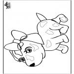 Coloriages d'animaux - Chien 8