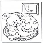 Coloriages d'animaux - Chien dormant