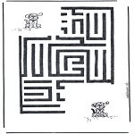 Bricolage coloriages - Chien labyrinthe