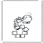 Coloriages faits divers - Chiffre 5