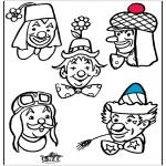 Coloriages faits divers - Clown 2