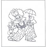 Coloriages faits divers - Clown de cirque