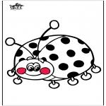 Coloriages d'animaux - Coccinelle 3