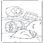 Coloriages d'animaux - Cochons 2