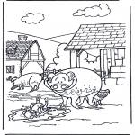Coloriages d'animaux - Cochons 3