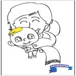 Coloriage thème - Coloriage bébé 2