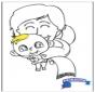 Coloriage bébé 2