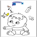 Coloriage thème - Coloriage bébé 3
