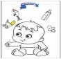 Coloriage bébé 3