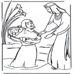 Coloriages Bible - Coloriage biblique - Moïse