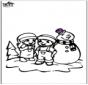 Coloriage de bonhomme de neige 2