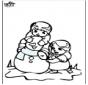 Coloriage de bonhomme de neige 3
