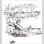 Coloriages faits divers - Coloriage soldat 1