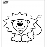 Coloriages d'animaux - Colorie de Lion