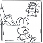 Coloriages pour enfants - Colorie les jouets 1