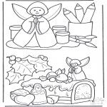 Coloriages Noël - Compositions de Noël