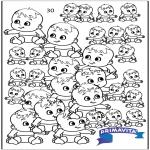 Bricolage coloriages - Compter de bébés