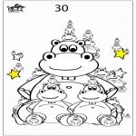 Bricolage coloriages - Compter de l'hippopotame