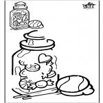 Bricolage coloriages - Copie le dessin - bonbons