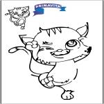 Bricolage coloriages - Copie le dessin - Chat