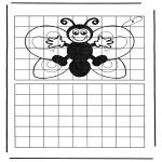 Bricolage coloriages - Copie le papillon