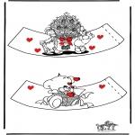 Coloriage thème - Coquetier Saint Valentin