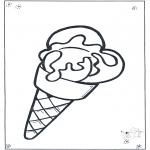 Coloriages pour enfants - Corne de glace