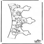 Bricolage coloriages - Couronne Dora