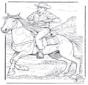 Cowboy avec cheval