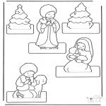 Coloriages Noël - Crèche de Noël bricoler 2