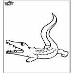 Coloriages d'animaux - Crocodile 3