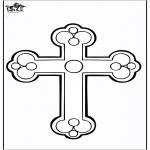 Coloriages Bible - Croix