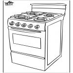 Coloriages faits divers - Cuisinière