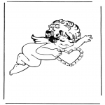 Coloriage thème - Cupidon 3