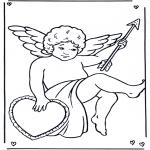 Coloriages faits divers - Cupidon