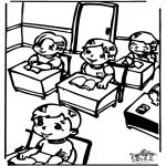 Coloriages pour enfants - Dans la classe 2