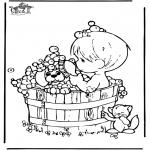 Coloriages faits divers - Dans le bain