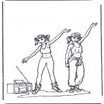 Coloriages faits divers - Danser 2