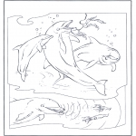 Coloriages d'animaux - Dauphin 2