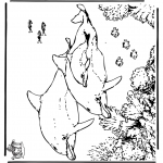 Coloriages d'animaux - Dauphin 5