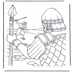 Coloriages Bible - David et Goliath 1