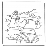 Coloriages Bible - David et Goliath 2