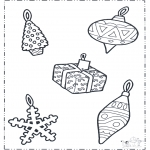 Coloriages Noël - Décoration de Noël 1