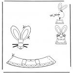 Coloriage thème - Décoration d'un oeuf de Pâques 1