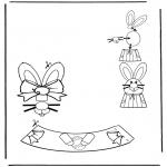 Coloriage thème - Décoration d'un oeuf de Pâques 3