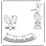Coloriage thème - Décoration d'un oeuf de Pâques 5